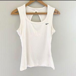 Nike Tank Top Peephole Cutout Workout White